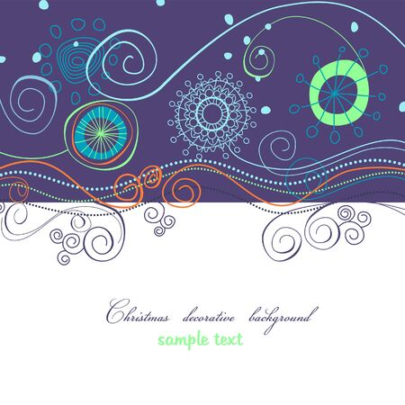 swirly: Christmas decorative background
