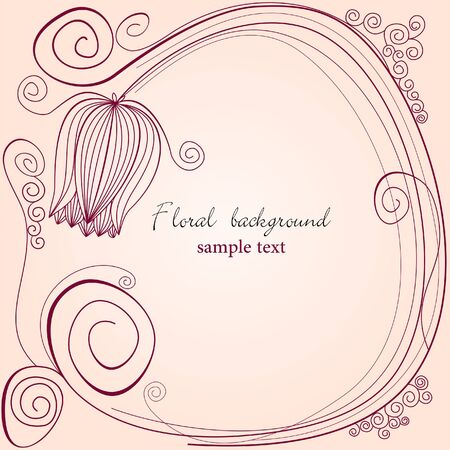 flores vintage: Floral background with tulip  Illustration