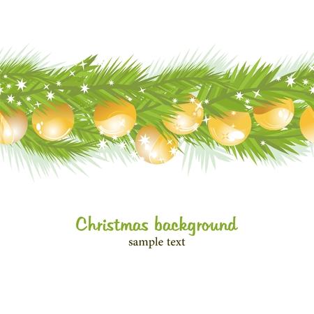 ball lights: Christmas seamless background