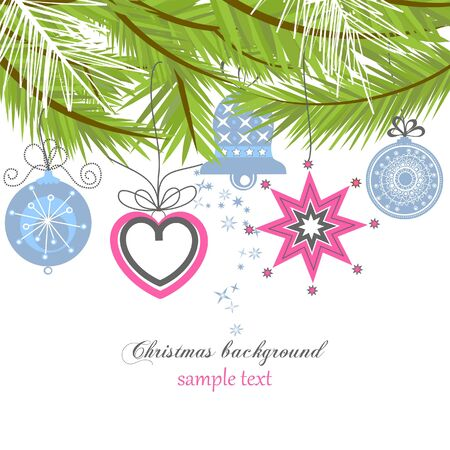bauble: Christmas background