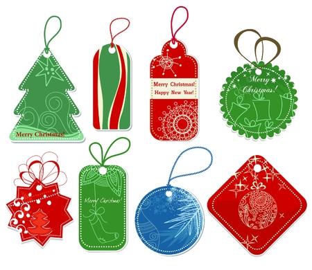 etiquetas de ropa: Etiquetas de precio de Navidad  Vectores