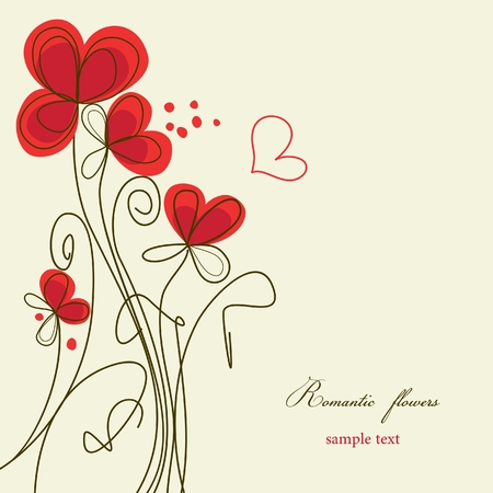 wedding backdrop: Romantic floral background  Illustration