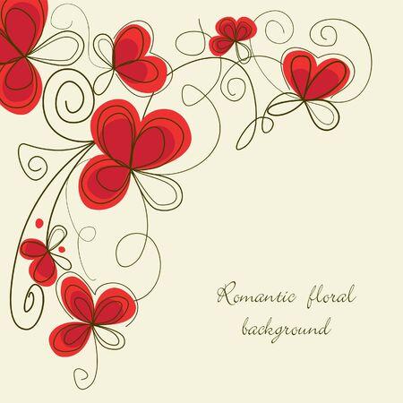 Romantic floral corner Stock Vector - 8085014