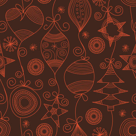 Cute Christmas seamless background Stock Vector - 8132482
