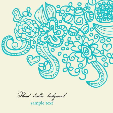 Floral doodles background Vector