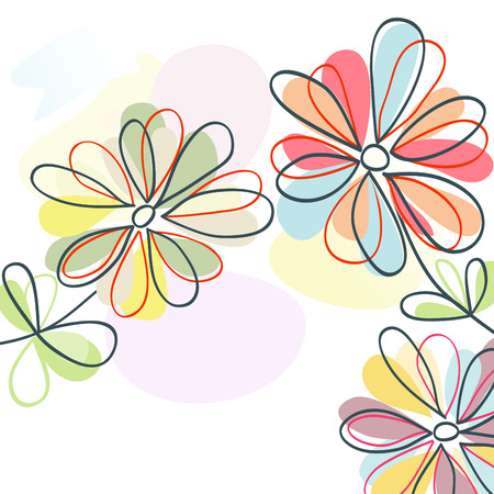 Floral pastel Stock Vector - 8132492