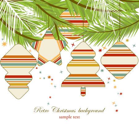 Retro Christmas background  Vector