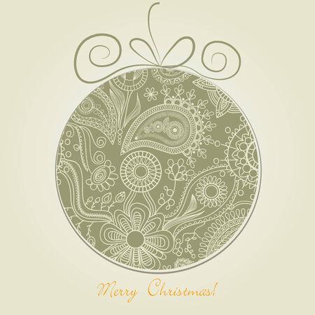 xmas linework: Christmas ball
