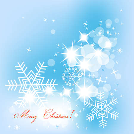 Blue Christmas background Stock Vector - 8254242