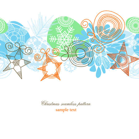 Colorful Christmas seamless background  Vector
