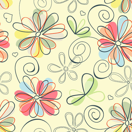 Retro floral background (seamless)  Stock Vector - 8254237