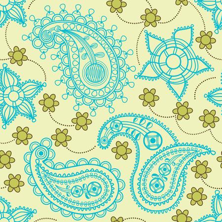 paisley wallpaper: Retro paisley seamless pattern