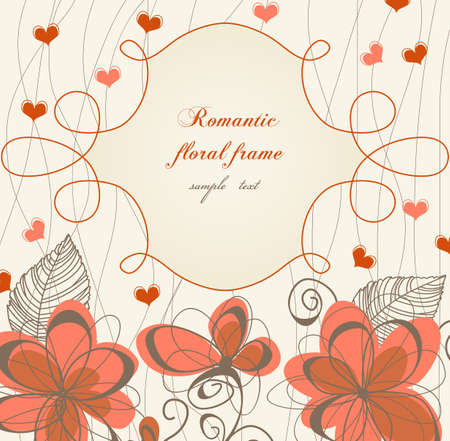 whimsy: Romantic floral frame