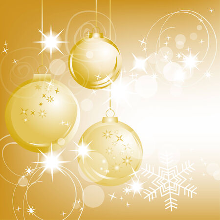 Golden Christmas background Stock Vector - 8254250