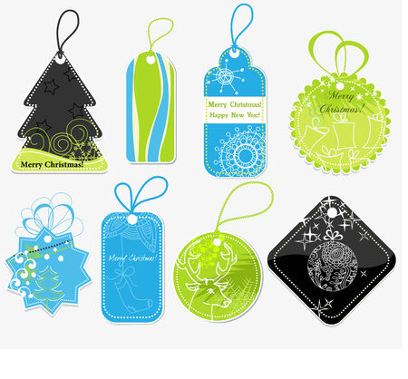 feliz navidad: Stylish Christmas price tags