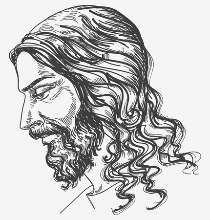 artistic jesus: Jesus gentle sight Illustration
