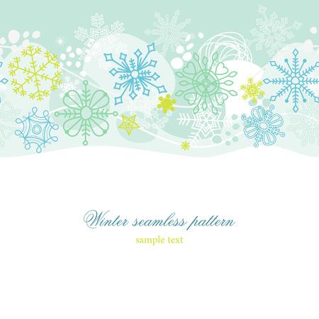 Winter seamless pattern Stock Vector - 8407759
