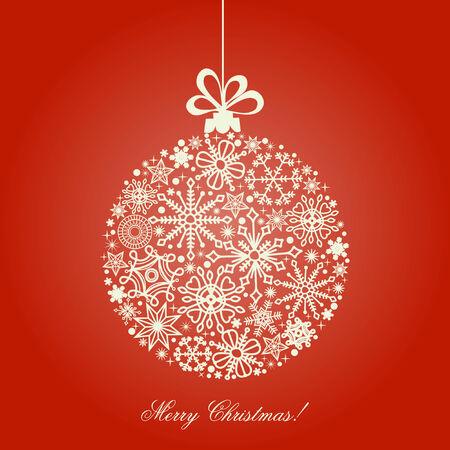 Christmas ball, snowflakes pattern Stock Vector - 8407753