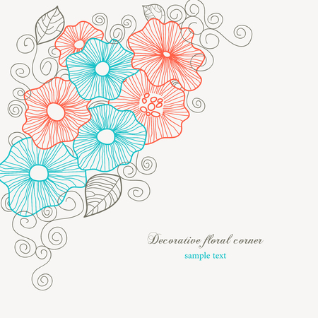 Decorative floral corner  Vector