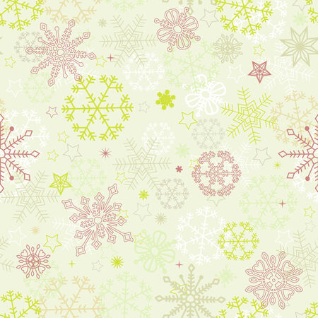 tiled: Retro snowflakes seamless pattern Illustration