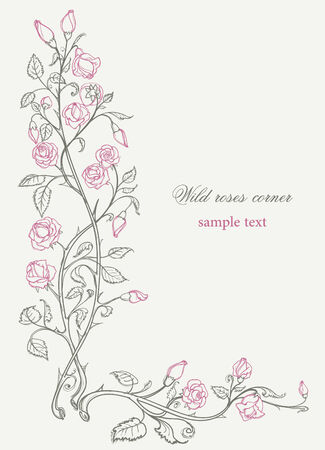 gentle: Wild roses decorative corner