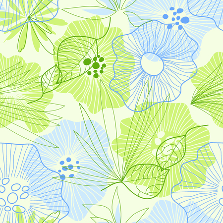 Whimsical floral background Vector