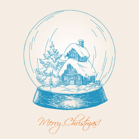 Snow globe sketch Stock Vector - 8472170