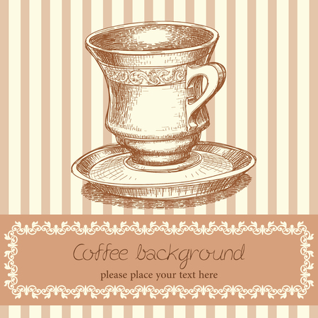 bar ware: Retro coffee background