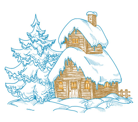 Cartoon winter landscape Stock Vector - 8537921