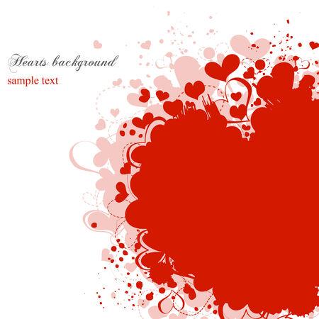 Grunge hearts Vector