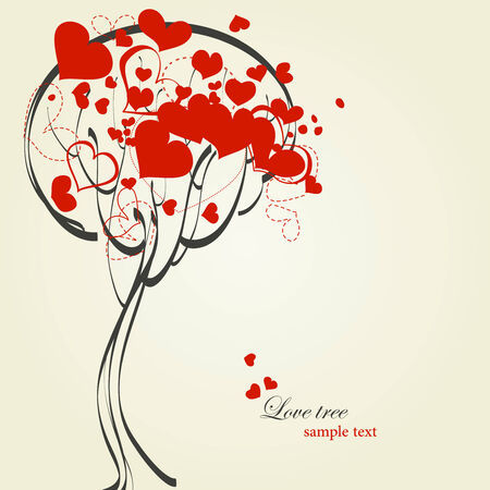 Love tree Stock Vector - 8555289