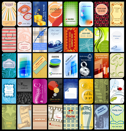 40 business cards collection Vector