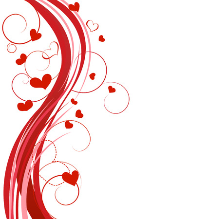 Hearts background Stock Vector - 8567340