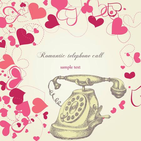 Romantic telephone call Stock Vector - 8567351