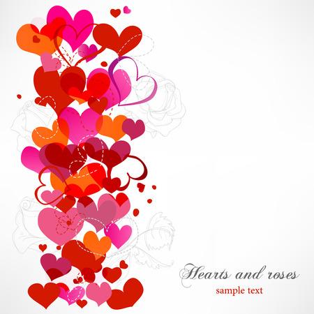 Hearts and roses border