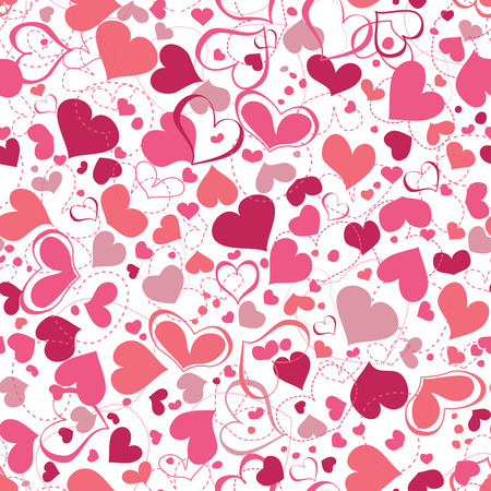 love heart: Hearts seamless background