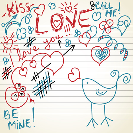 Love doodles Vector