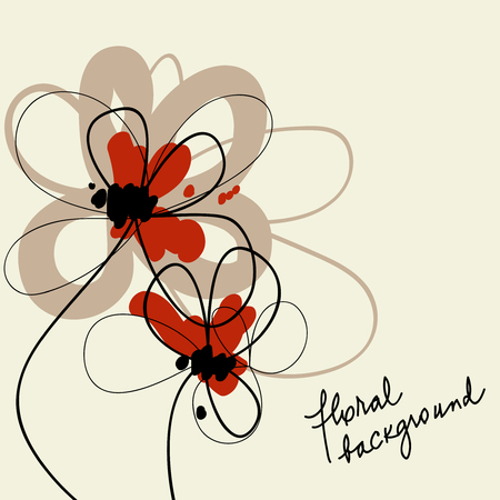 dessin fleur: Arri�re-plan floral cute