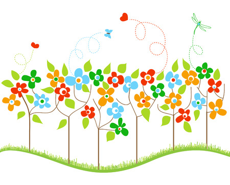 childish: Весенние деревья Иллюстрация
