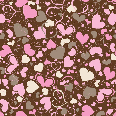 Hearts seamless pattern Stock Vector - 8858487