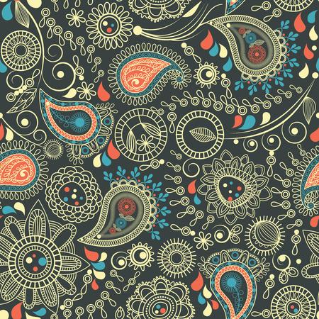Paisley seamless pattern Stock Vector - 8858496