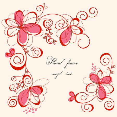 floral frame: Cute floral frame