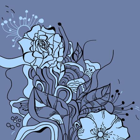 linework: Floral background  Illustration