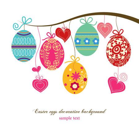 huevo caricatura: Fondo de huevos de Pascua Vectores