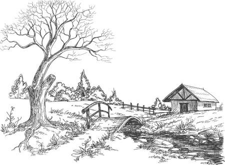 Vroege voorjaar landschap