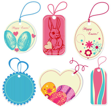Easter price tags Vector