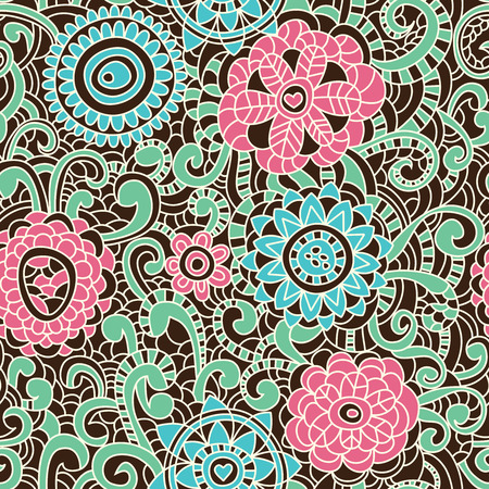 Floral seamless pattern Stock Vector - 9056354