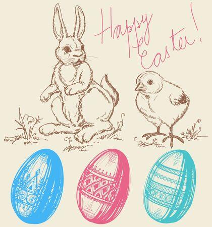 Easter design elements Vector Illustration
