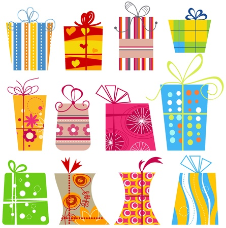 Cartoon gift boxes collection  Vector