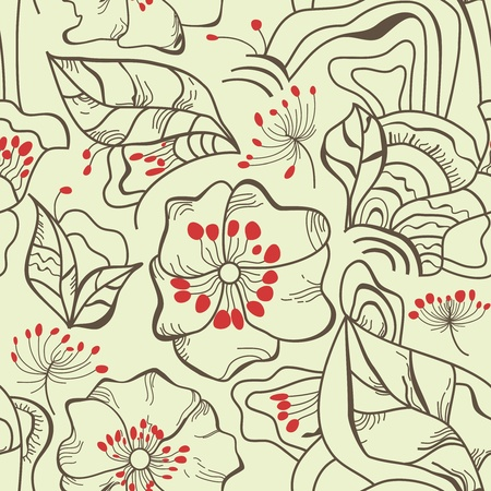 Floral seamless pattern Stock Vector - 9158616